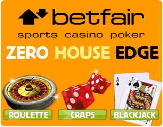 Betfair Casino Image - Zero House Edge On Blackjack, Roulette and Craps